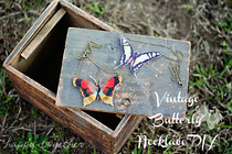 Vintage Butterfly Necklace Diy