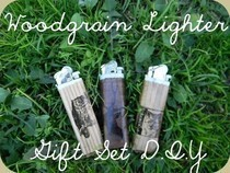 Woodgrain Lighter Set