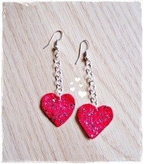 Felt Heart Earrings 