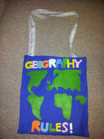 """Geography Rules!"" Tote Bag"