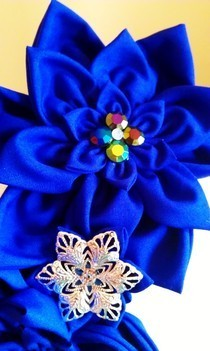 Purple Kanzashi Head Piece.