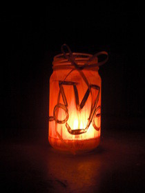 Candle Love Bottle