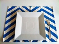 Chevron Striped Place Mat