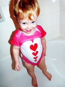 Heart Onesie &amp; Paper Plate Stencil