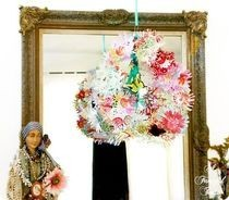 Paper Flower Chandelier