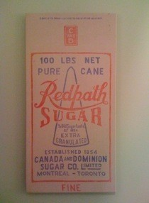 Vintage Sugar Sack Canvas