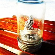 Antique Winter Scene Crown Jar
