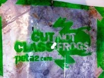 Cut Class Not Frogs Peta2 Stencil Sign