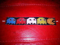 Pacman Bead Loom Bracelet