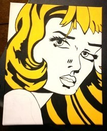 Roy Lichtenstein Type Painting.