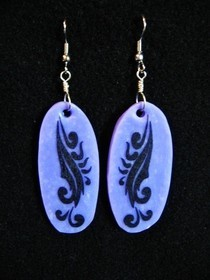 Purple Tattoo Earrings