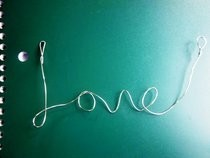Wire Love Necklace