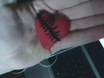 Stitched Up Heart Charm