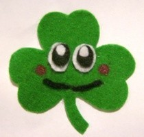 Cute Shamrock Brooch