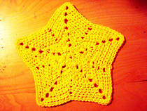 Crochet Star Dishcloth