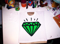 Hand Painted Diamond Tee.