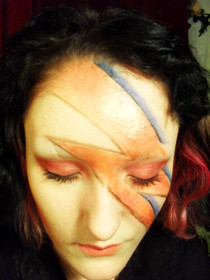 David Bowie Aladdin Sane Inspired Make Up.