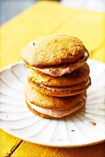 Maple Pumpkin Whoopie Pies With Chocolate Cream Cheese Filling