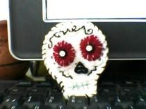 Sugar Skull Brooch   My Version.