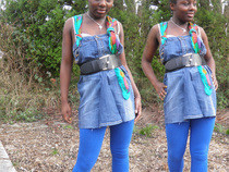 Diy Denim Dress Recycled Jeans