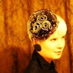Zipper Roses Fascinator Hat