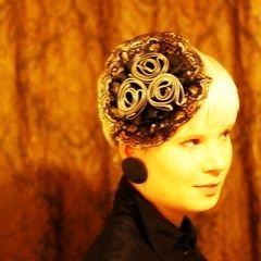 Zipper Roses Fascinator Hat