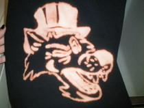 "Bleached Shirt ""Wolf And His Top Hat"" "