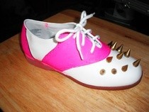 Punk Pink Saddleback Shoes