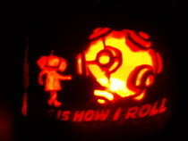 Katamari Pumpkin Carving