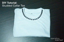 Studded Collar Tee