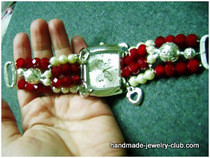 Beaded Wrist Watch Band