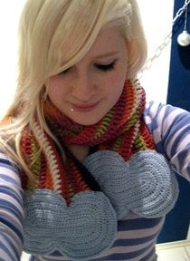 Rainbow & Cloud Scarf