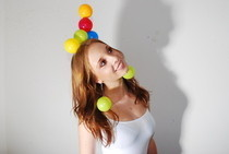 Plastic Play Ball Headdress