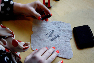 How to embroider . DIY Embroidered Monogram - Step 2