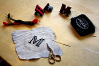 How to embroider . DIY Embroidered Monogram - Step 4