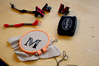 How to embroider . DIY Embroidered Monogram - Step 6