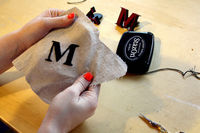 How to embroider . DIY Embroidered Monogram - Step 7