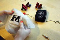 How to embroider . DIY Embroidered Monogram - Step 8