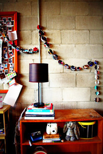 Recycled Magazine Ball Garland