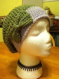 Two Tone Slochy Hat