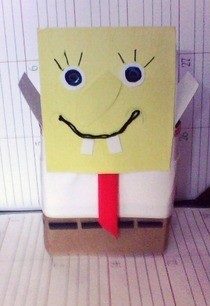 Cardboad Box Spongebob