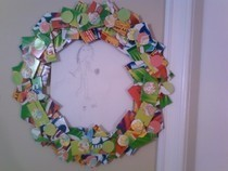 Cardboard Wreath/ Frame