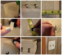 Old Book Light Switch Cover