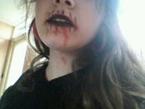Bloody Vampire Stiched Lips