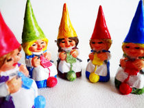 Knitting Lady Gnome Brooches