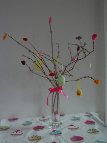 Easter Tree With Bright Leaves