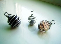 Wrapped Marble Pendants