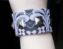 Studded Lace Bracelet