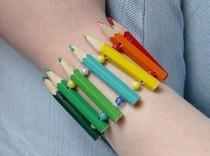 Colored Pencil Bracelet