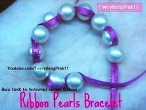 Pearl Ribbon Bow Bracelet Diy